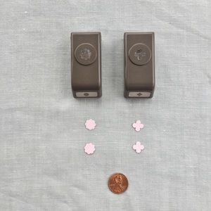Stampin' Up set of 2 floral paper punches
